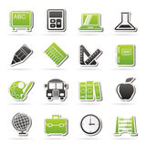 Iconos de la escuela y de la educación Imagen de archivo
