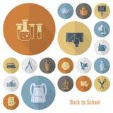 Iconos de la escuela y de la educación Imagen de archivo libre de regalías