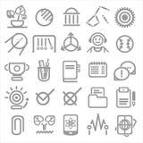 25 iconos de la escuela y de la universidad Imagenes de archivo