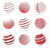 Iconos de la esfera. Imágenes de archivo libres de regalías