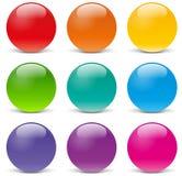 Iconos de la esfera del vector stock de ilustración