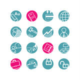 Iconos de la esfera económica Ilustración del Vector