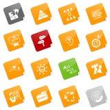 Iconos de la estrategia - serie pegajosa Imágenes de archivo libres de regalías