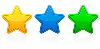 Iconos de la estrella Imágenes de archivo libres de regalías