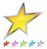 Iconos de la estrella Imagenes de archivo