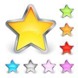 Iconos de la estrella Fotos de archivo libres de regalías