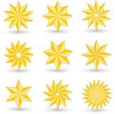 Iconos de la estrella del oro libre illustration