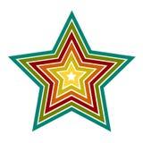 Iconos de la estrella del vector Fotos de archivo