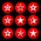 Iconos de la estrella fijados Fotos de archivo