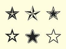 Iconos de la estrella fijados Imágenes de archivo libres de regalías