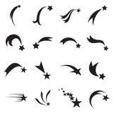 Iconos de la estrella fugaz Iconos de la estrella el caer Iconos del cometa
