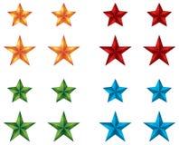 Iconos de la estrella para el diseño de Web Imágenes de archivo libres de regalías