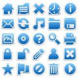 Iconos de la etiqueta engomada Imágenes de archivo libres de regalías