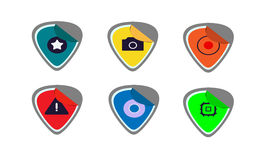 Iconos de la etiqueta engomada Fotografía de archivo