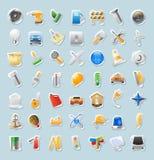 Iconos de la etiqueta engomada para la industria Imagenes de archivo