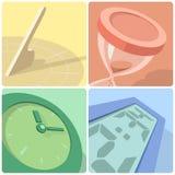 Iconos de la evolución del tiempo Fotos de archivo libres de regalías