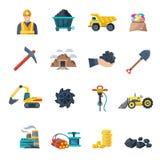 Iconos de la explotación minera planos