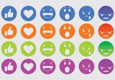 Iconos de la expresión imagenes de archivo