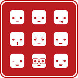 Iconos de la expresión de la cara Imagenes de archivo