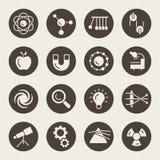 Iconos de la física ilustración del vector