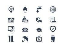 Iconos de la facturación Imagen de archivo libre de regalías