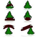 Iconos de la Feliz Navidad libre illustration