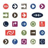 Iconos de la flecha Foto de archivo