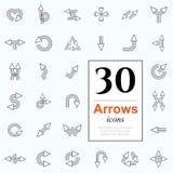 30 iconos de la flecha Imagenes de archivo