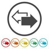 Iconos de la flecha del intercambio fijados stock de ilustración