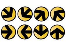 Iconos de la flecha del vector Foto de archivo libre de regalías