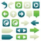 Iconos de la flecha direccional Fotos de archivo