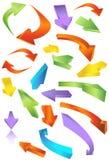 Iconos de la flecha direccional Foto de archivo