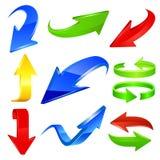 Iconos de la flecha en color Fotos de archivo libres de regalías