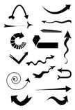 Iconos de la flecha fijados Imágenes de archivo libres de regalías