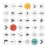 Iconos de la flecha fijados Fotos de archivo libres de regalías