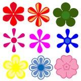Iconos de la flor Imagen de archivo libre de regalías