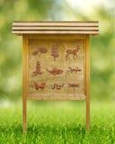 Iconos de la flora y de la fauna Imágenes de archivo libres de regalías