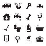 Iconos de la fontanería Imagen de archivo