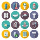 Iconos de la fontanería fijados Imagen de archivo