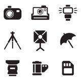 Iconos de la fotografía Foto de archivo libre de regalías