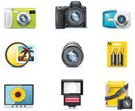 Iconos de la fotografía del vector. Parte 1 stock de ilustración