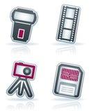 Iconos de la fotografía fijados Imagen de archivo libre de regalías