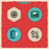 Iconos de la fotografía fijados Fotografía de archivo libre de regalías