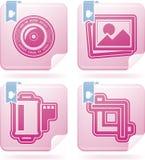 Iconos de la fotografía fijados Fotografía de archivo