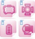 Iconos de la fotografía fijados Imágenes de archivo libres de regalías