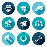 Iconos de la fragua fijados Ilustración del vector libre illustration