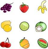 iconos de la fruta Fotos de archivo