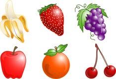 Iconos de la fruta Fotografía de archivo libre de regalías