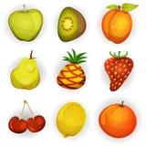 Iconos de la fruta de la historieta fijados libre illustration