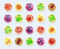 Iconos de la fruta y verdura Foto de archivo